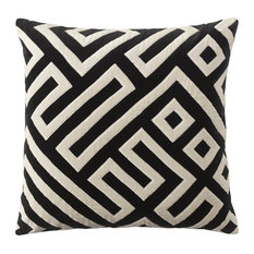 Maze Pillow, Black
