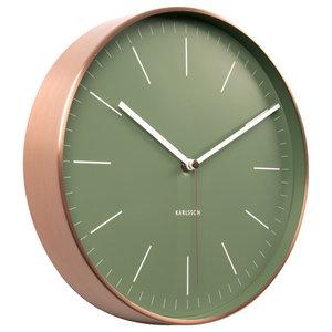 Karlsson Minimal Copper Clock, Green