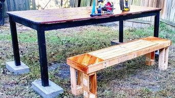 Custom pallet bench