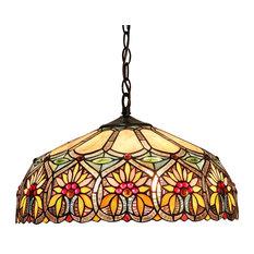 CHLOE Lighting, Inc.   Sunny 2 Light Floral Ceiling Pendant Fixture    Pendant