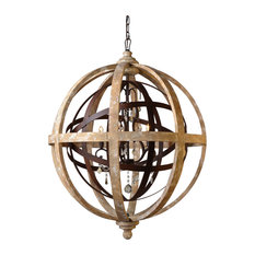 moti iron and wood open work globe with crystal accents chandeliers