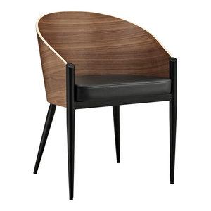 Cooper Dining Wood Armchair, Walnut