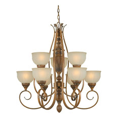 Forte Lighting 2380-09-41 3+6 LT Chandelier