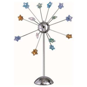 14-Lite Table Lamp, Chrome Multi Star Glass, Jc G4 10Wx14