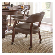Dining Room Chairs With Wheels, Padded Dining Room Chairs With Casters