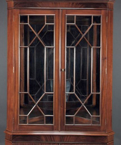 High End Mahogany Corner China Cabinet for Traditional Dining Room (K NDRC 025)