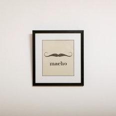 - ヒゲモチーフのインテリアアート macho - イラストアート