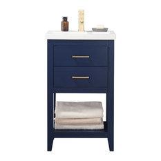 """Cara 20"""" Single Sink Vanity, Blue"""