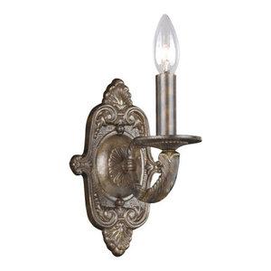 "Crystorama Lighting Group 5111-VB Paris Flea Market 1-Light 15/""H Wall Sconce"