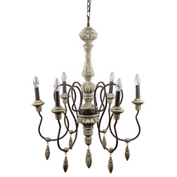 Spectacular Mediterranean Chandeliers Light Wooden Pendant Light With Drop Ornaments