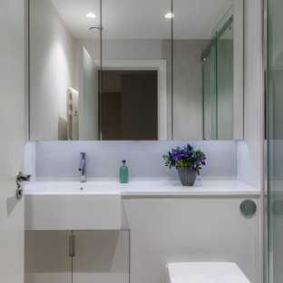 Two seamless bathrooms in Kew
