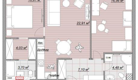 Поиск планировки: 3 плана + финал для семейной «евродвушки»