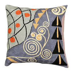 Klimt Cushion Cover Expectation Hand Embroidered Wool 18x18""