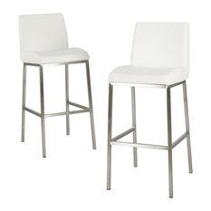 gdfstudio jalen leather bar stools set of 2 white bar stools and - Leather Counter Stools