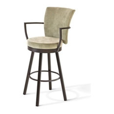 Amisco Cardin Swivel Stool HO Biscuit 34-inch