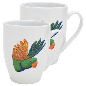 Lovebird Head Mugs, Set of 2