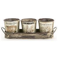 """Vintage Garden Herb Pots, 13""""x4"""""""