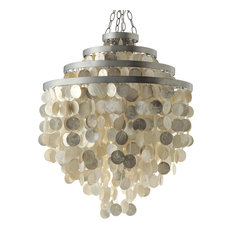 Round Chandelier with Capiz Shells, Champagne