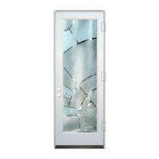 Sans Soucie Art Glass - Glass Front Entry Door Sans Soucie Art Glass Matrix Arcs 3D - Front Doors