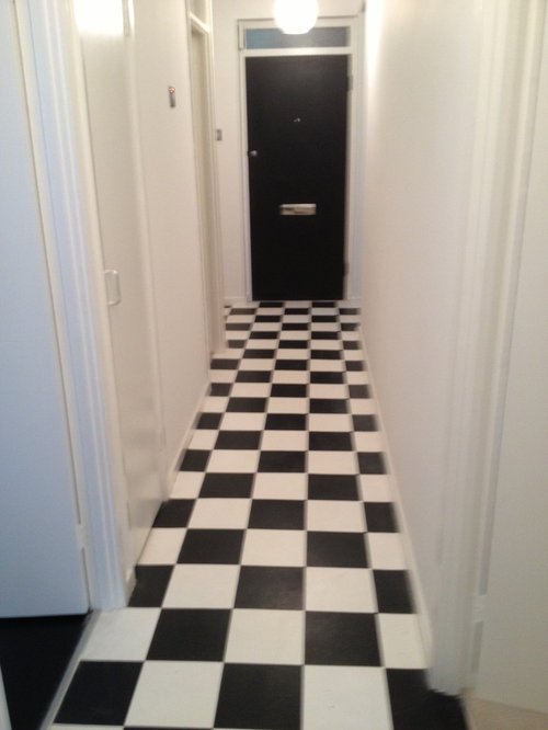 Hallway Has Very Nice John Lewis Black White Tiles With Paint Work Any Ideas As To What I Should Put On Walls Thanks Would Really Reciate