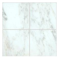 "6""x6"" MSI Arabescato Marble Floor and Wall Tile, Full Tile Sample"