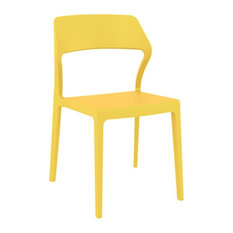 Snow Dining Chair, Set of 2, Yellow