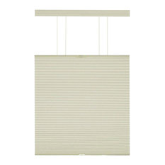 """Top-Down Cordless Honeycomb Cellular Pleated Shades, Set of 2, Alabaster, 30"""""""