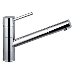 Modern Single Lever Kitchen Sink Mixer Tap, Solid Brass With Pull Out Spout