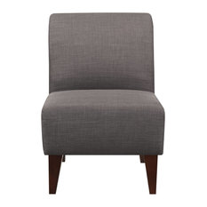 North Accent Slipper Chair, Charcoal