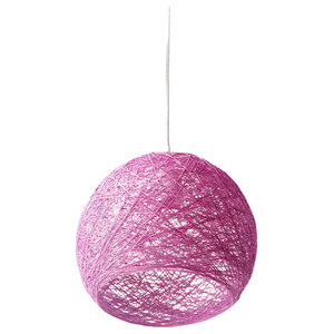 Hemisphere Hanging Globe Pendant Light, Violet, Medium