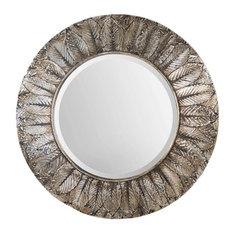 Uttermost Foliage Round Silver Leaf Mirror