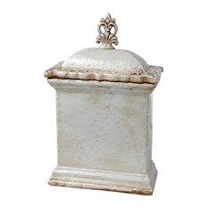 AB Home Sargent Rectangular Short Lidded Jar