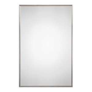 Bowery Hill Razi Mirror in Brushed Stainless Steel