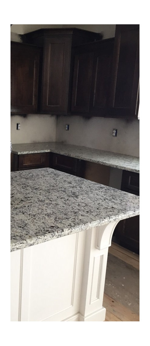 Backsplash With Dallas White Granite
