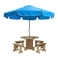 10-ft Patio Umbrella & Canopy, Blue