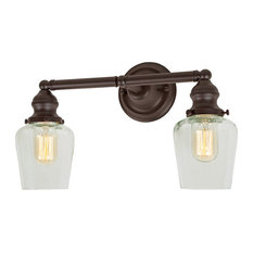 Union Square Liberty 2 Light Bathroom Vanity Light in Oil Rubbed Bronze