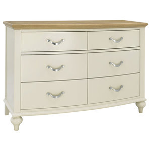 Denali Oak and Antique White 6-Drawer Chest