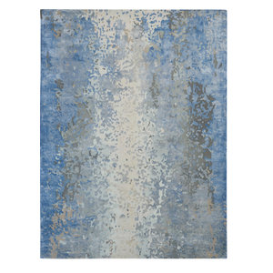 "Nourison Prismatic Contemporary Area Rug, Denim, 8'6""x11'6"""