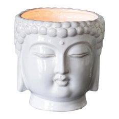 Metallic Buddha 3-Wick Scented Candle, White