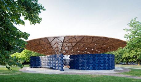 Francis Kéré lleva a Londres un pabellón inspirado en un árbol