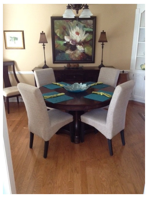 The First Two Pics Are Of Dining Room With And Without Buffet A Picture Living When I Had Chairs Between Curios