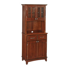 Home Styles Furniture - Buffet of Buffet With Wood Top and Hutch, Medium Cherry - China Cabinets and Hutches