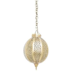 Brass Citron Pendant, 22 x 42 x 39cm