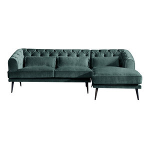 Earl Grey Chaise 3 Seater Sofa, Ocean, Right Hand Facing