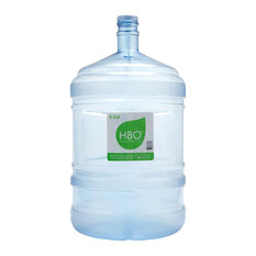 H8O Polycarbonate 5 Gallon Water Bottle With Handle and 48mm Cap