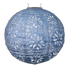Allsop Home U0026 Garden   Soji Stella Boho Globe, Metallic Blue   Outdoor Rope  And