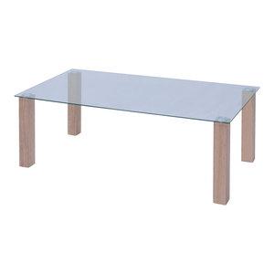 vidaXL Glass Coffee Table, 120x60x43 cm