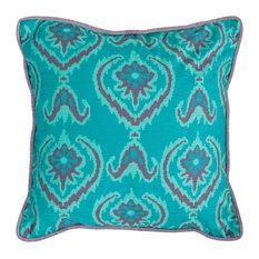 "Safavieh Alpine Pillow, Set of 2, Blue, 20""x20"""