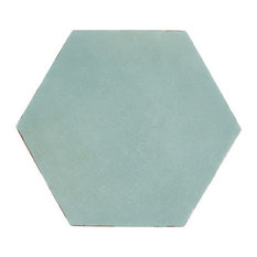 "Alexandria Black 5.5""x6"" Porcelain Floor and Wall Tile, Ocean Blue"