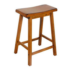 24  Counter Height Solid Wooden Saddle Seat Stools Set of 2 Oak  sc 1 st  Houzz & Saddle Seat Bar Stools and Counter Stools | Houzz islam-shia.org